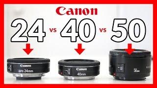 Canon 24mm STM Pancake vs 40mm STM Pancake vs 50mm 1.8