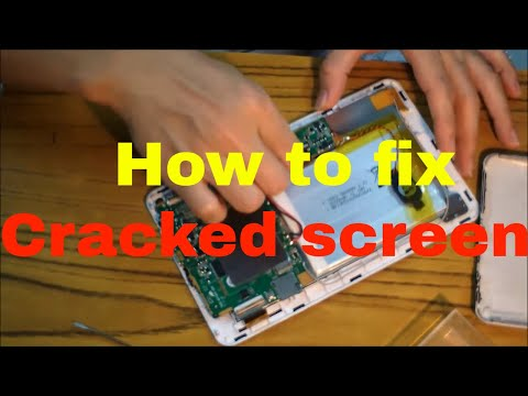 How to replace cracked touch screen LCD for tablet PC