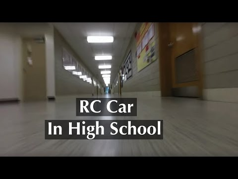 RC Car Driving In High School - FPV