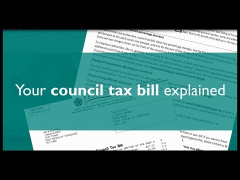 Your council tax bill explained