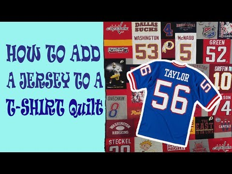 How to Add a Jersey to a T-Shirt Quilt