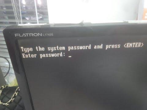 How to remove bios password on dell optiplex 780 -