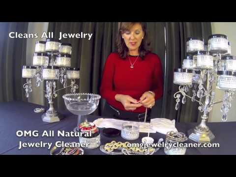 Naturally Clean All Your Jewelry with OMG All Natural Jewelry Cleaner at home in one minute!