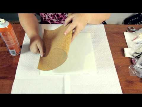 How to Glue a Cork Sheet for a Bulletin Board : Crafty Tips