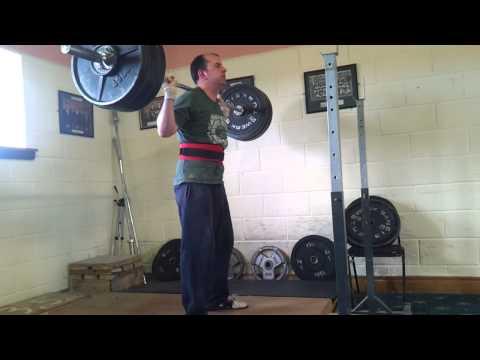 142.5 kgs back squat for 5 reps @ 82 kgs