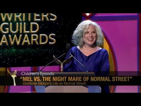 Gortimer Gibbon's Laurie Parres wins the 2017 WGA Award for Children's Episodic