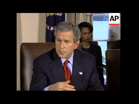 Bush defends contract policy on Iraq reconstruction