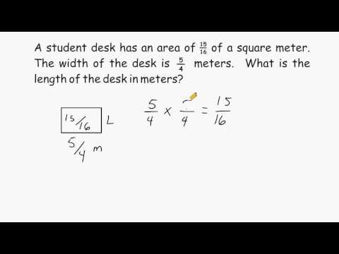 Fraction Division - Finding Unknown Side Of Rectangle