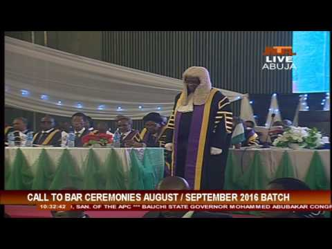Nigeria Law Schoo Call To Bar Ceremony 2016