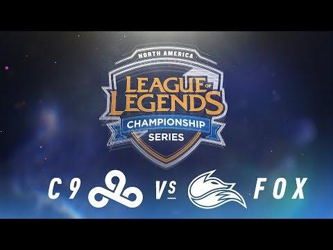 C9 vs. FOX - Week 2 Day 1 | NA LCS Spring Split | Cloud9 vs.Echo Fox (2018)