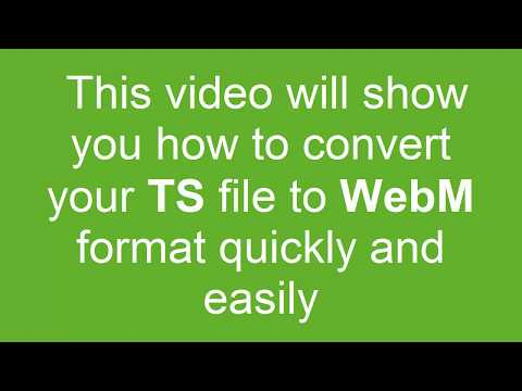 How to Convert TS to WebM