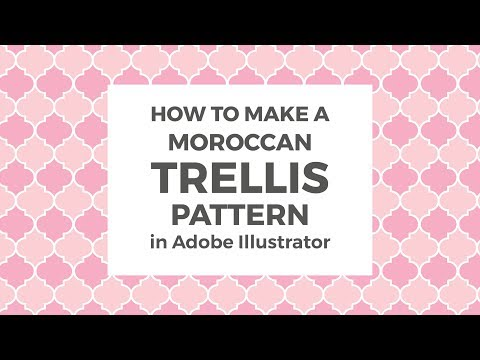How to make a Moroccan trellis patterns in Illustrator