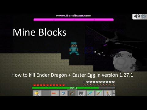 Mine Blocks - How to kill Ender Dragon + Easter Egg in version 1.27.1
