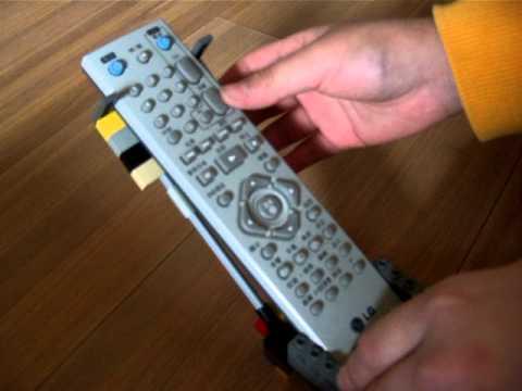Lego TV remote stand