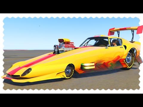 CRAZY DRAG CAR (2000 MPH Challenge) | GTA 5 Car Mods