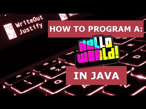 How to Program: A Hello World Program in Java