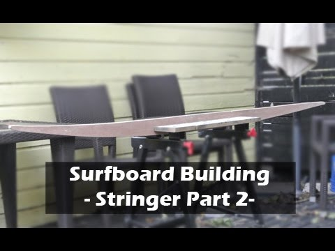 Making a Surfboard Stringer Template Part 2: How to Build a Surfboard #05