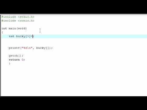 C Programming Tutorial - 14 - Intro to Arrays