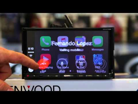 How to use Apple Car Play on Kenwood's new DDX9702S smart phone multi media radio
