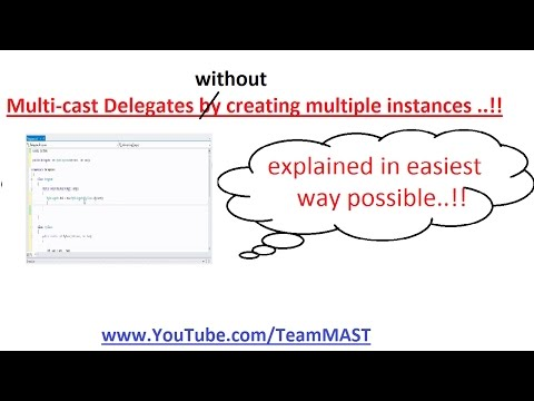 Multi Cast delegates without creating multiple instances in C# | Team MAST
