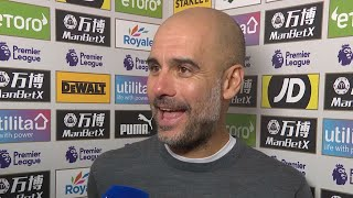 'I'll be watching golf, not Liverpool!'   Guardiola discusses the title race after win over Palace