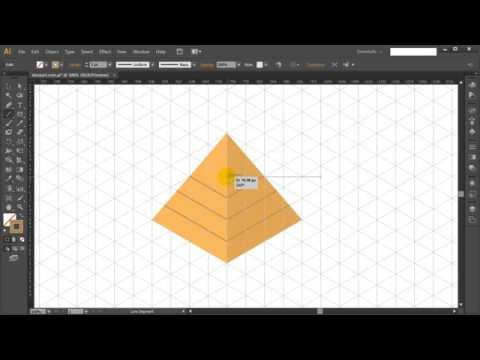 How to draw ISOMETRIC EGYPTIAN PYRAMID in Adobe Illustrator - Tutorial #6