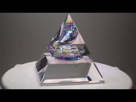 Owain Pyramid - Glass Sculpture by Jack Storms