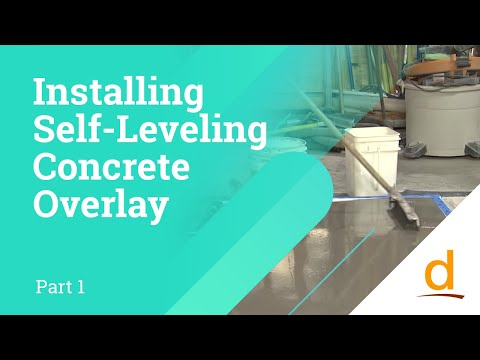 How to install self-leveling concrete overlay - Part 1