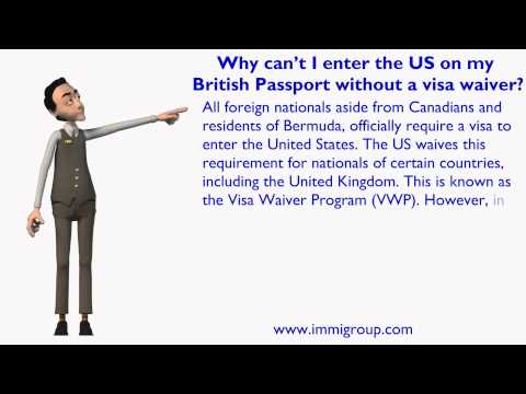 Why can't I enter the US on my British Passport without a visa waiver?