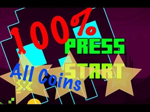 Press Start  • ALL COINS • Geometry Dash SubZero