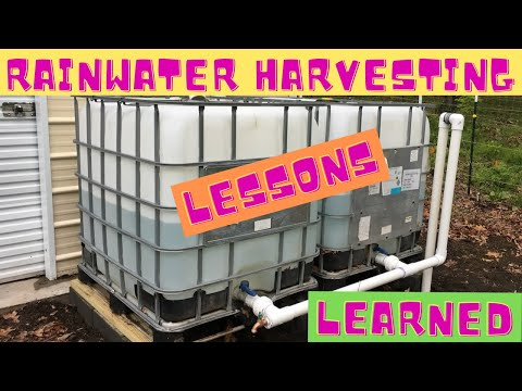 RainWater Harvesting Lessons Learned