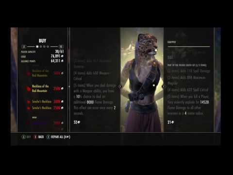 Elder Scrolls Online - Monster Vendor Golden (GOLD RINGS!)
