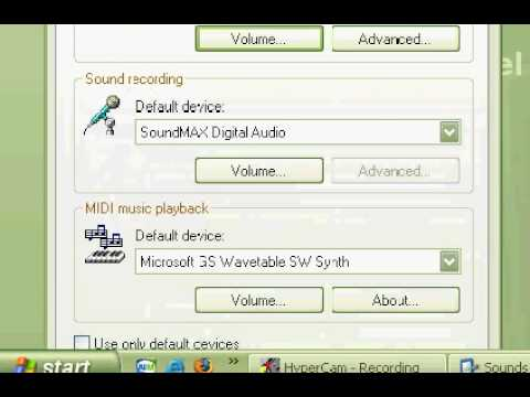 How To Really Fix Sound Problem For Hypercam 2 for Windows xp