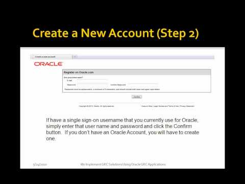 Create a New Account for My Oracle Support