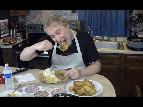 Air Fryer Shake + Bake Pork Chops