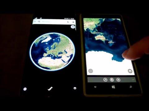 Samsung Galaxy S6E Plus + wp lancher vs Lumia 930 windows 10 mobile