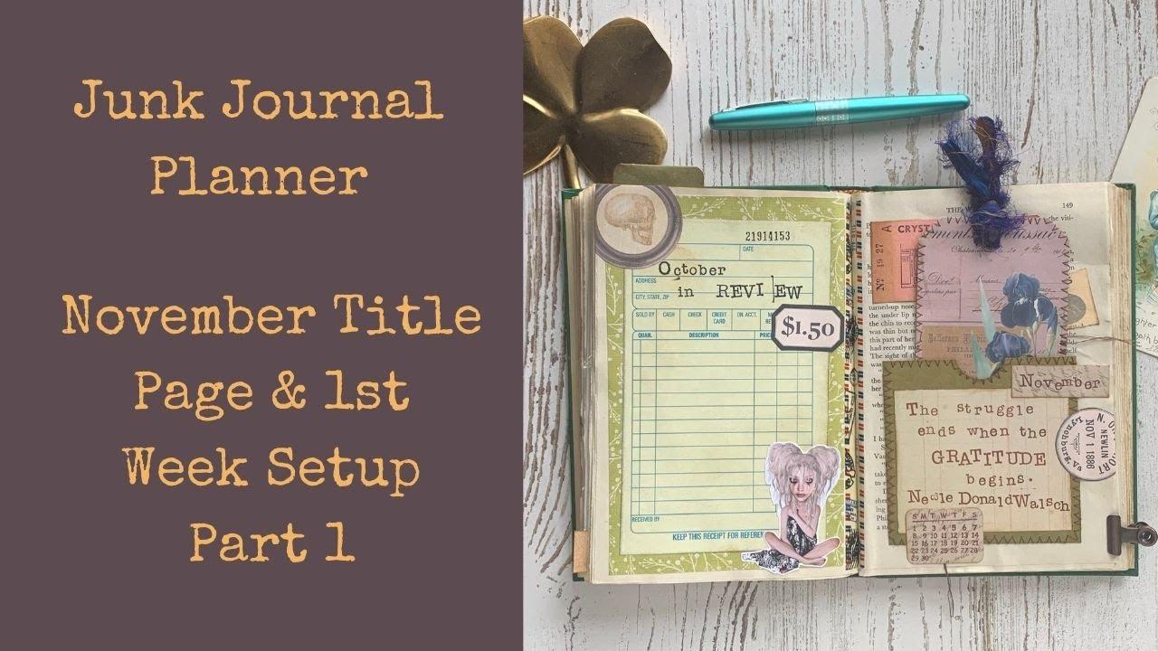 Altered Book Bullet Junk Journal - November Planning - Part 1