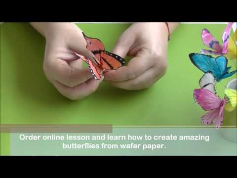 Wafer paper Butterfly Tutorial with Petya Shmarova Trailer
