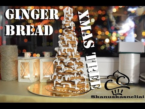 How to make gingerbread xmas tree