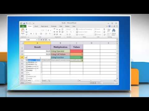 How to Multiply in Excel 2010