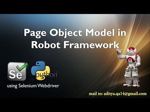 Page Object Model in Selenium Python Robot Framework Step by Step