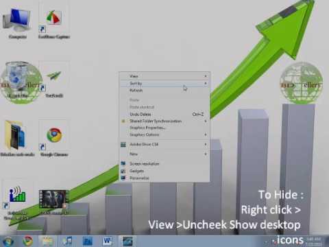 Windows 7 Tutorial : Change icon size and icon on desktop