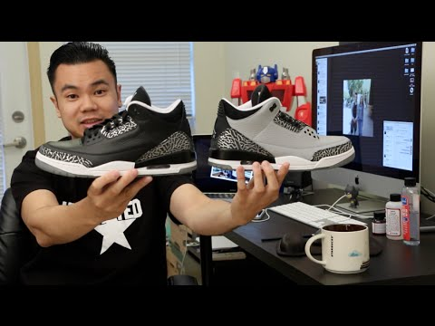 How to paint your shoes - Jordan Wolf Grey 3s w/ pictures