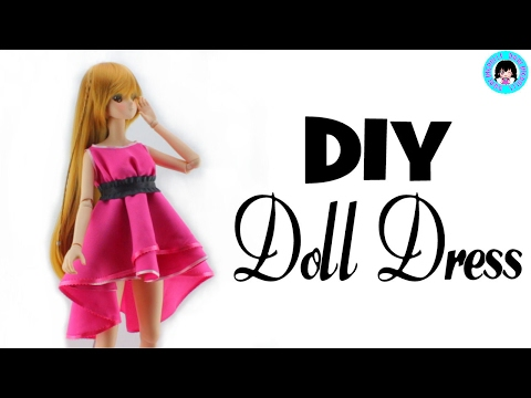 👗 DIY Cute SMART DOLL Dress! - DarlingDolls  Miniature DIY