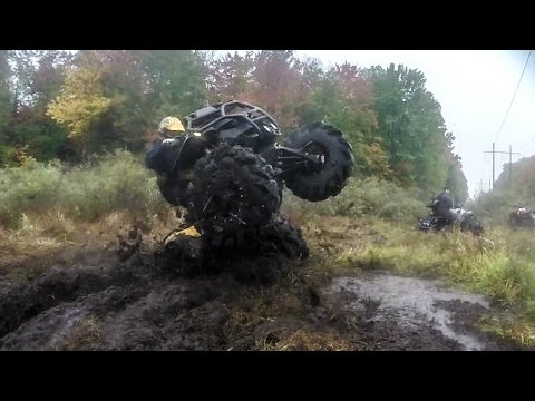 Mission Abort!  (Can Am Renegade doing 360 on Two Wheels)