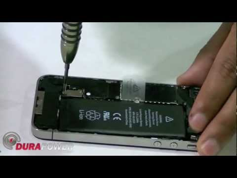 iPhone 4 / 4S Battery Removal Replacement Directions by DurapowerGlobal.com