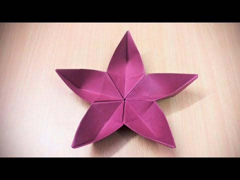How to make an origami paper flower - 2 | Origami / Paper Folding Craft, Videos & Tutorials.