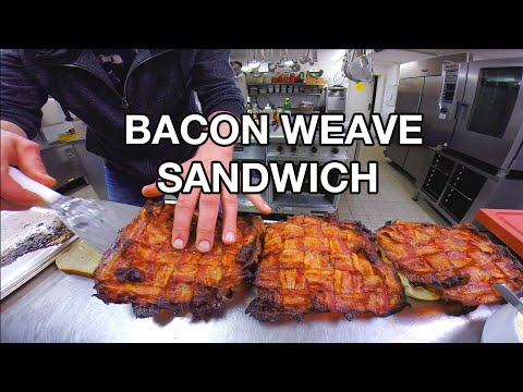 How to make a giant BACON WEAVE SANDWICH - Get Bacon In Every Bite!