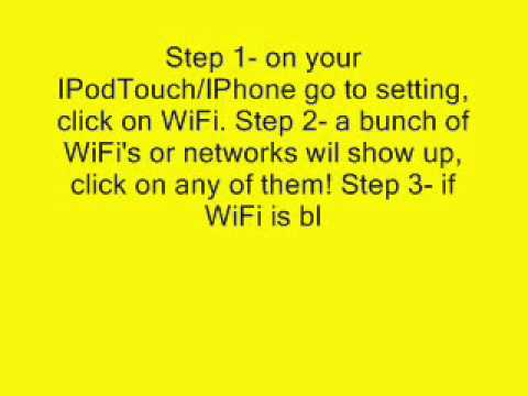 How to get WiFi anywhere you go with your IPodTouch/ IPhone