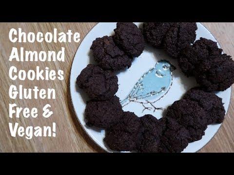 Chocolate Almond Cookies Gluten Free & Vegan!